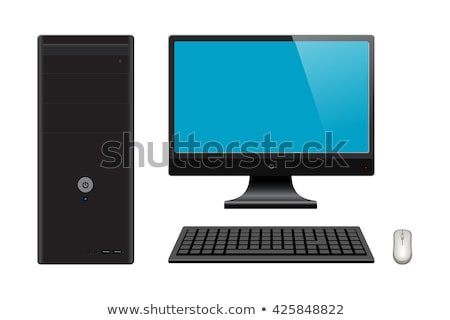 black computer with case keyboard and mouse stock photo © shutswis