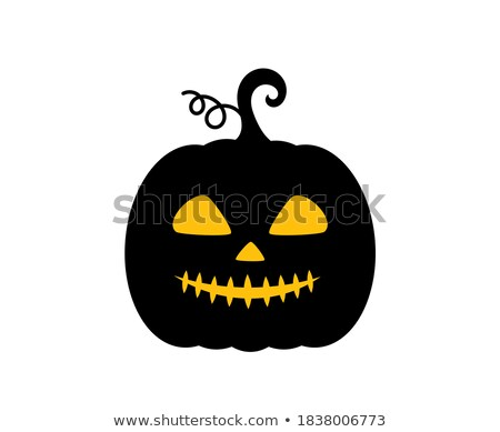 Scary halloween night with spooky evil face of jack o lantern in Stock photo © dla4