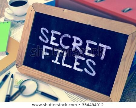 Secret Files Concept Hand Drawn on Chalkboard. Stock photo © tashatuvango
