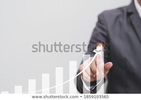Aanraken groei trend pijl staafdiagram arm Stockfoto © leowolfert