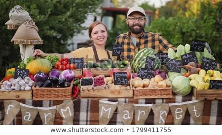 süpermarket · koridor · gıda · adam - stok fotoğraf © paha_l