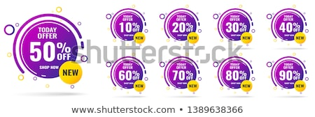 save 10 percent red vector icon design stock photo © rizwanali3d