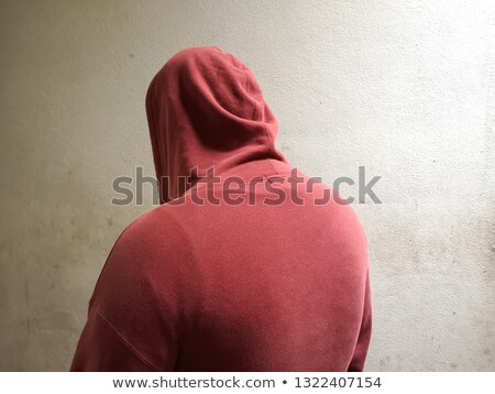 Unrecognizable person wearing red hooded shirt Stock photo © stevanovicigor
