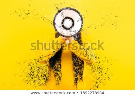 Moda model renkli sıçrama genç Stok fotoğraf © ra2studio