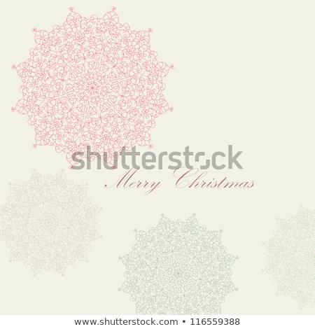 Noël · présents · boîte · eps · flocons · de · neige · vecteur - photo stock © beholdereye