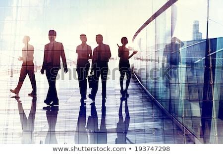 失わ ビジネス ビジネスマン 立って 岩 グループ ストックフォト © Lightsource