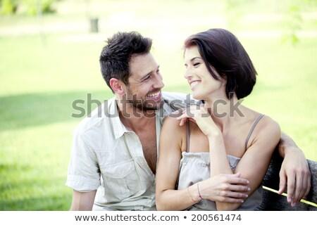 Man approaching to a woman in a car Stock photo © zurijeta