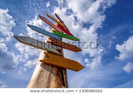 Direzione distanza indicatore burocrazia strada rosso Foto d'archivio © Digifoodstock