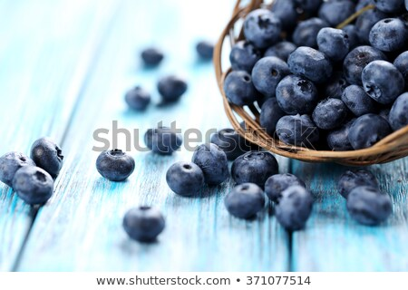 Blueberry pile on wooden table, macro Stock photo © stevanovicigor