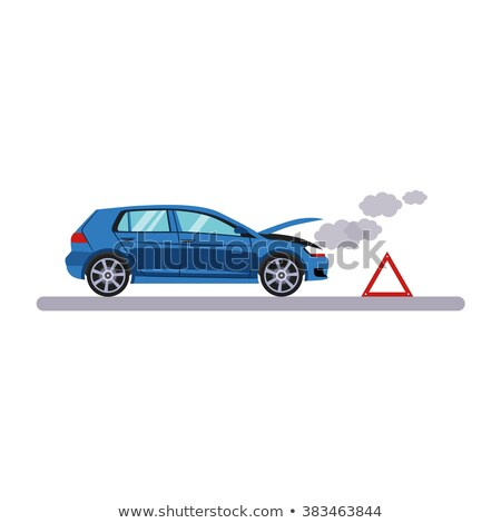 Vector graphic of protected and breakdown cars Stock photo © adrian_n