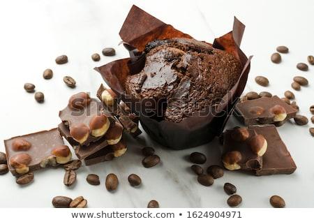 Hazelnoot muffins chocolade voedsel zoete niemand Stockfoto © Digifoodstock