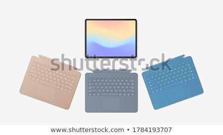 Laptop keyboards in different colours isolated on white Stock photo © Evgeny89