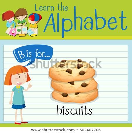 Alfabeto biscotti illustrazione ragazzi bambino sfondo Foto d'archivio © bluering
