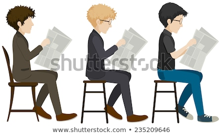 Faceless people sitting on a stall Stock photo © bluering