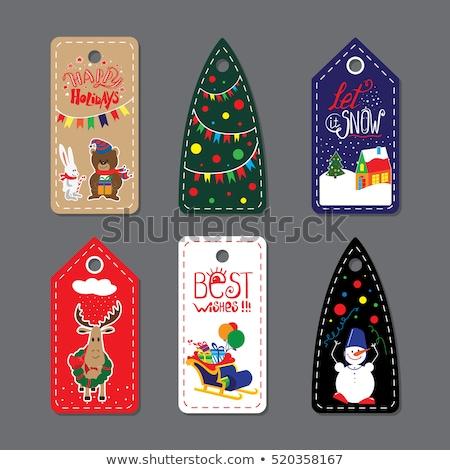 魔法 クリスマス ラベル セット カラフル ストックフォト © Voysla