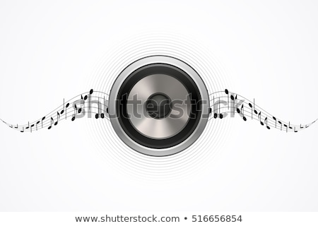 speaker with music waves stock photo © get4net