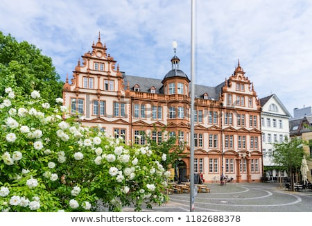 Old Historic Gutenberg Museum with blue sky in Mainz Stock photo © meinzahn