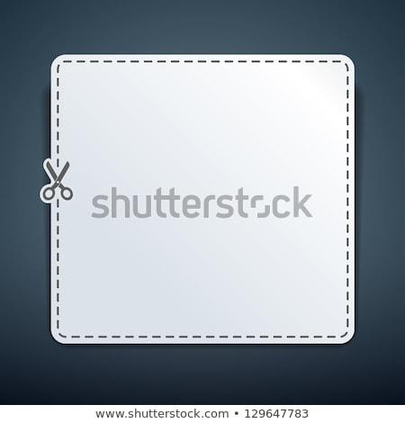 クーポン ベクトル テンプレート コーナー 紙 ストックフォト © tuulijumala