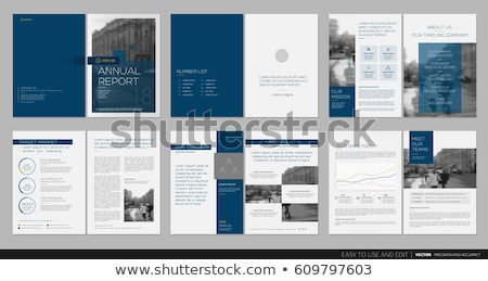 clean annual report brochure template design in A4 size Stock photo © SArts