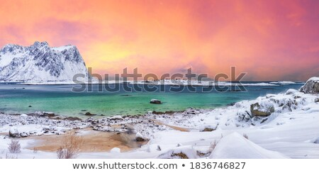Snowy Winter Mountain range Stock photo © vichie81