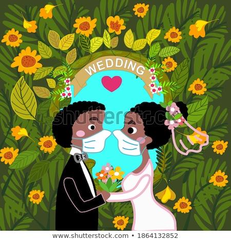 romantische · bruid · ander · ogen · strand · bloemen - stockfoto © svetography