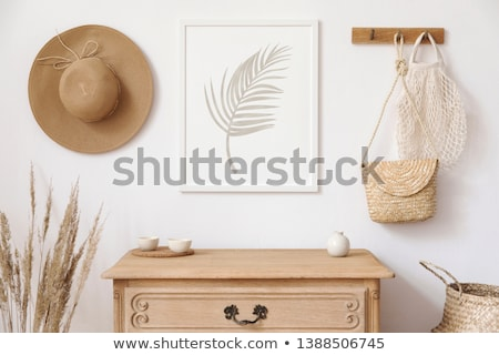 Straw Flower Frame Stock photo © zhekos