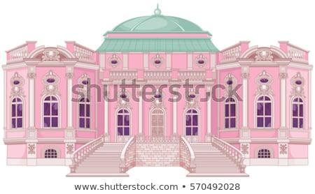 Romântico palácio princesa bonitinho casa jardim Foto stock © Dazdraperma