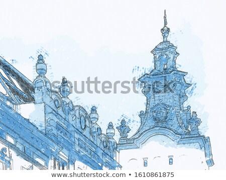 Instantâneo ar quadro praça mercado cidade Foto stock © bezikus
