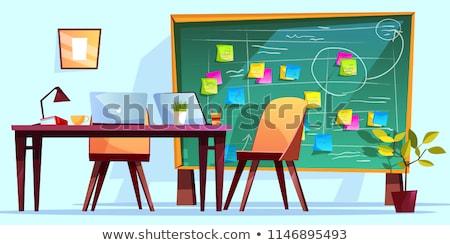 Activiteit schoolbord kantoor groene tekst Rood Stockfoto © tashatuvango