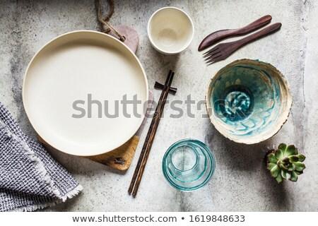 木製 · 孤立した · 白 · 料理 · 背景 · スプーン - ストックフォト © bsani