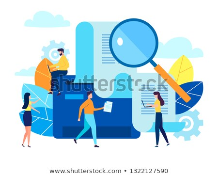 woman filling a printer with paper stock photo © is2