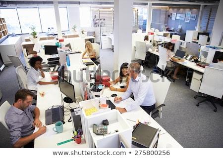 Işçiler meşgul ofis çalışanları ofis iş bilgisayar Stok fotoğraf © IS2
