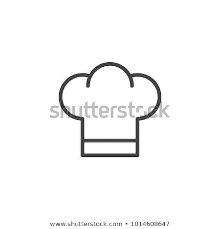 Icon kok cap witte voedsel Stockfoto © popaukropa