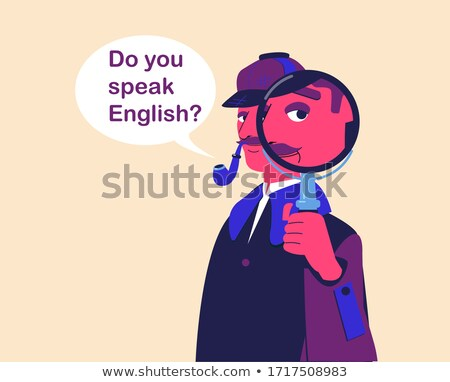 aprender · gramática · lupa · papel · velho · vermelho · vertical - foto stock © tashatuvango