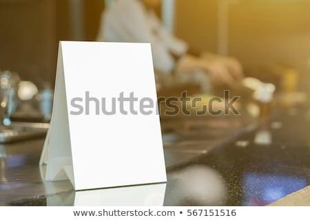 シェフ 注文 メニュー フレーム 実例 ストックフォト © lenm