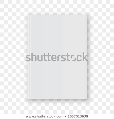 książek · przezroczysty · stałego · zamknięte · biały · papieru - zdjęcia stock © romvo