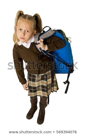 schoolmeisje · vector · karakter · geïsoleerd · witte - stockfoto © rastudio