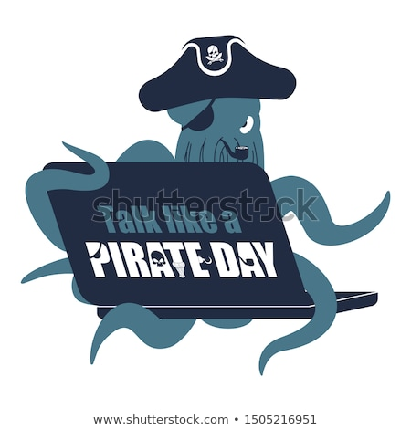 International Talk Like A Pirate Day. Octopus web pirate and lap Stock photo © popaukropa