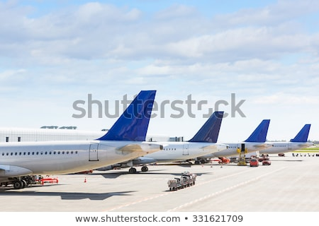 Airport with planes and parking Stock photo © studioworkstock