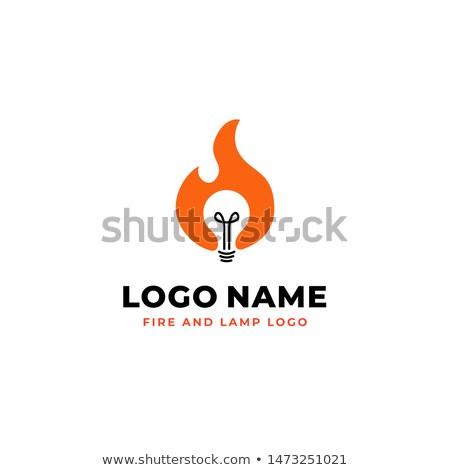 fuoco · lampadina · uomo · d'affari · business - foto d'archivio © psychoshadow