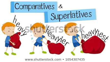 Comparative and Superlative English Words Stock photo © bluering