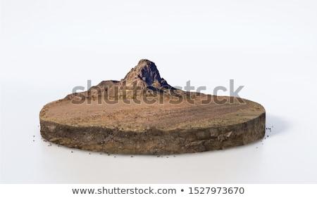Erde weiß isoliert 3D Rendering Elemente Stock foto © ixstudio