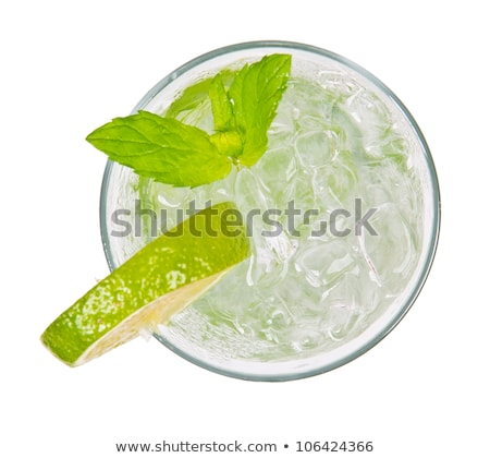 Mint green leaves for mojito drink top view Stock photo © LoopAll