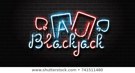 Casino illustration néon lumière lettre jouer Photo stock © articular