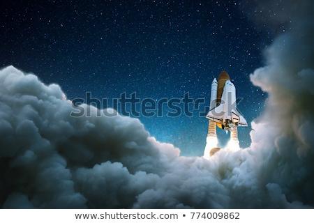 Razzo spazio esplorazione illustrazione cielo tecnologia Foto d'archivio © bluering