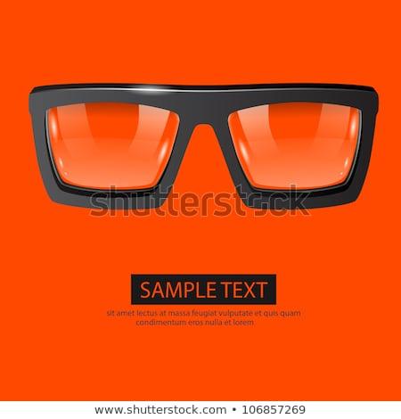 Schwarz Kunststoff Gläser orange isoliert Glas Stock foto © MikhailMishchenko