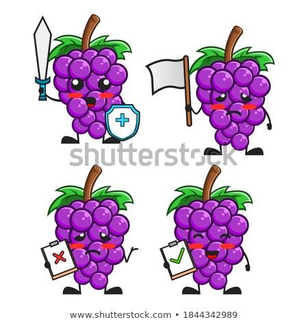 Desenho animado bandeira agrícola cena rural pessoas fruto Foto stock © Genestro
