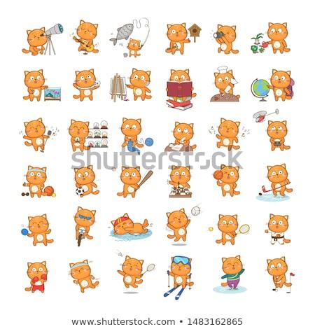 ranzinza · gato · jogar · jogo · consolá · desenho · animado - foto stock © cthoman