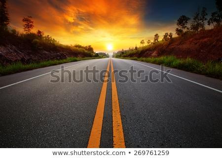 шоссе декораций дороги Германия осень время Сток-фото © prill