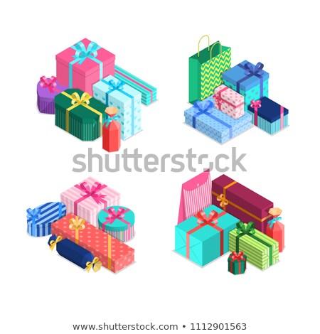 kívánság · vidám · karácsony · színes · szöveg · vektor - stock fotó © user_10144511